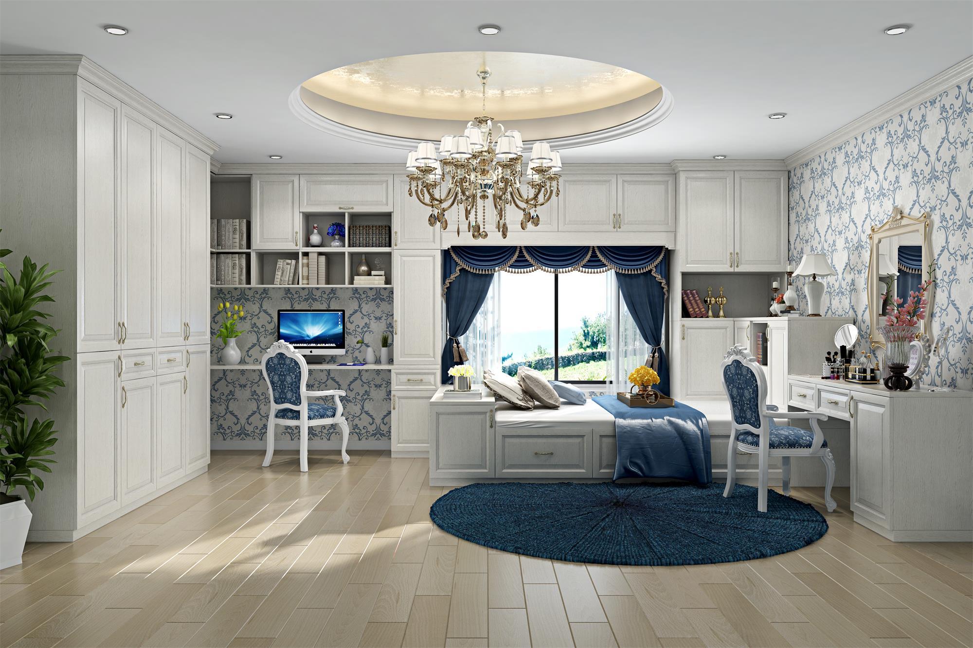 皇家印象系列_白橡木卧室套房